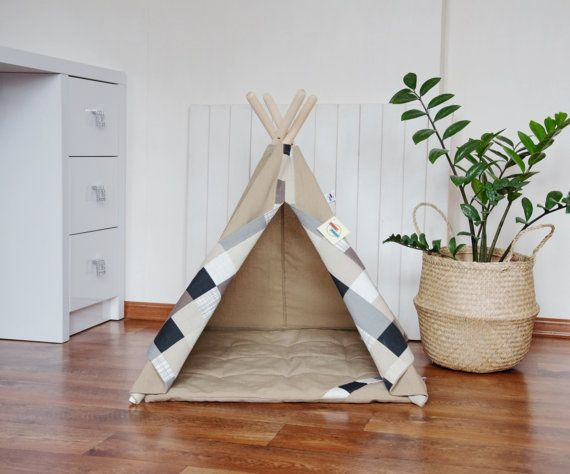 Pet teepee with poles and mat dog teepeecat by - Tipi para perros ...