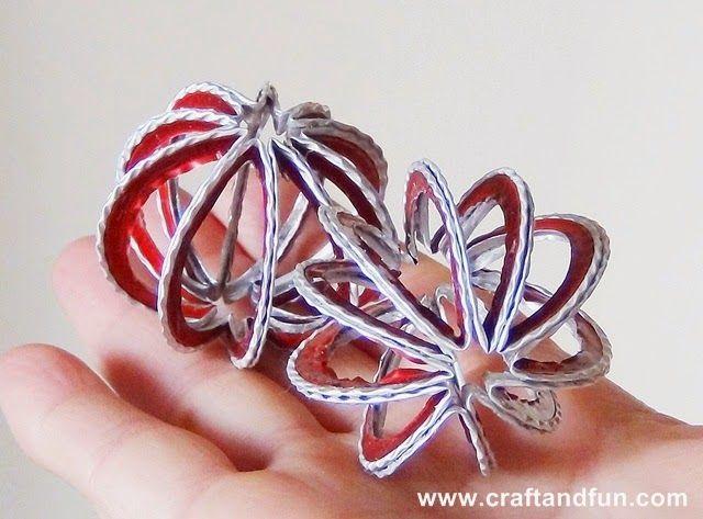 Palline di Natale personalizzate con il Riciclo Creativo dell'alluminio