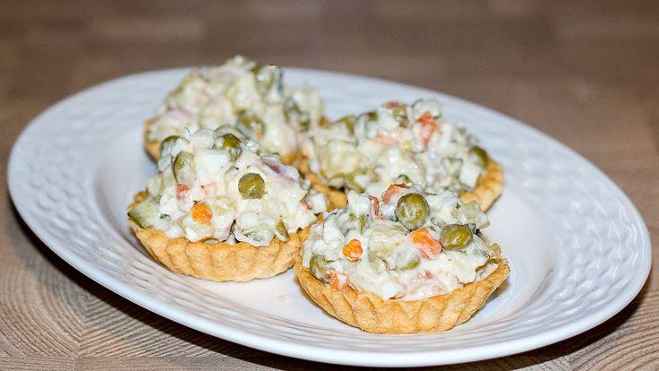 Рыбный салат Оливье