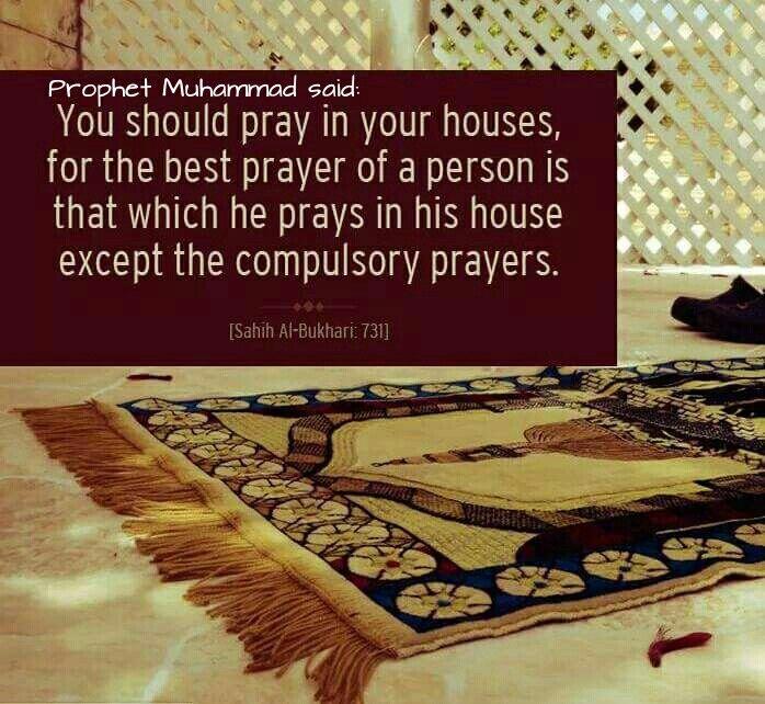 Prophet Muhammad quotes re prayer
