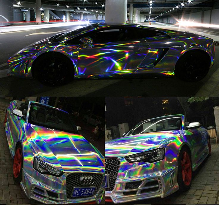 Car Styling Wrap Laser Chrome Vinyl Film Body Sticker Air Free Bubble 1.49mx0.5m