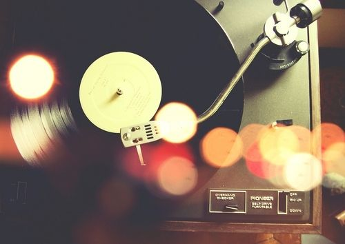 Vintage Vinyl Record Player Photograph