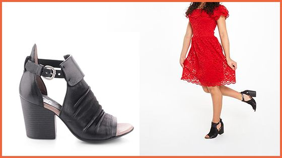 The Saturn Heel in Black is a chunky 3.25″ heel with some serious attitude.
