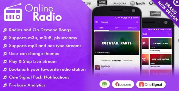 Android Radio App (Online Radio, Streaming, M3U8, M3U, MP3
