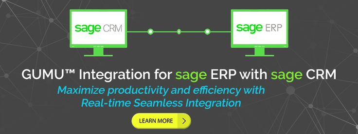 Sage CRM and Sage ERP Integration  solution is seamlessly automated between Sage ERP (Sage X3 / Sage 100 / Sage 300 / Sage 500 / Sage 50 US / Sage Pro / QuickBooks) and Sage CRM.
