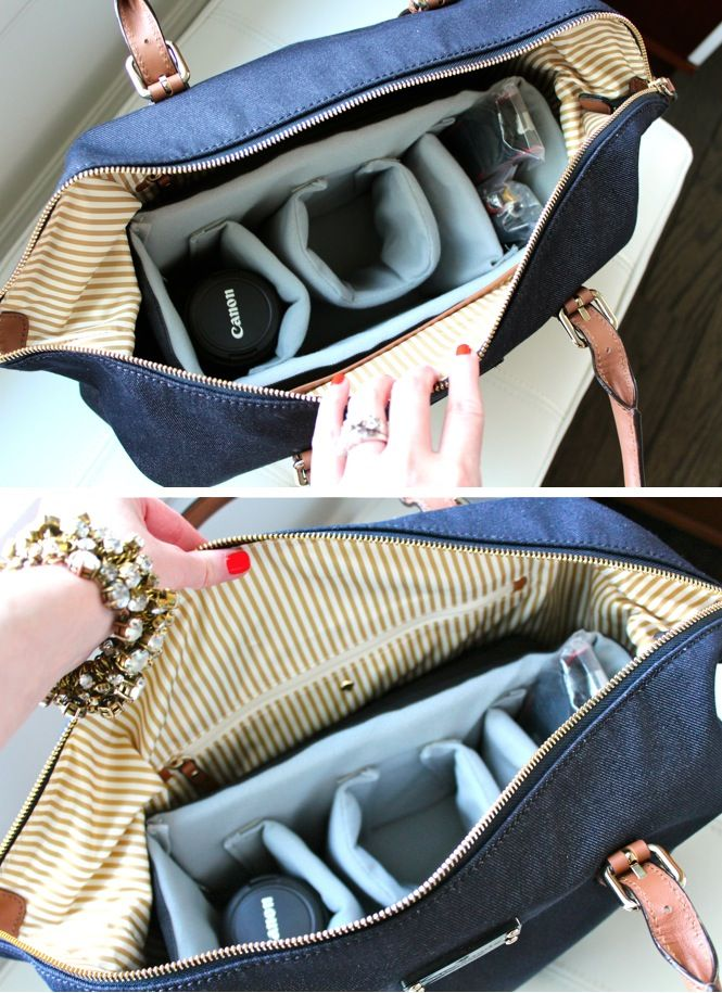 Make your own camera bag! LOVE this idea! It solves so many of my problems. Definitely doing this :)