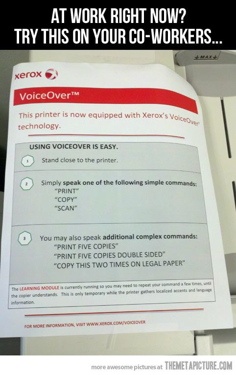I'm hitting every copier in the office with this…