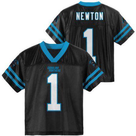NFL Carolina Panthers Youth Cam Newton Jersey, Boy's, Size: Medium, Black