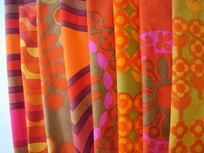 vintage Heals fabrics from the 1960s and 70s