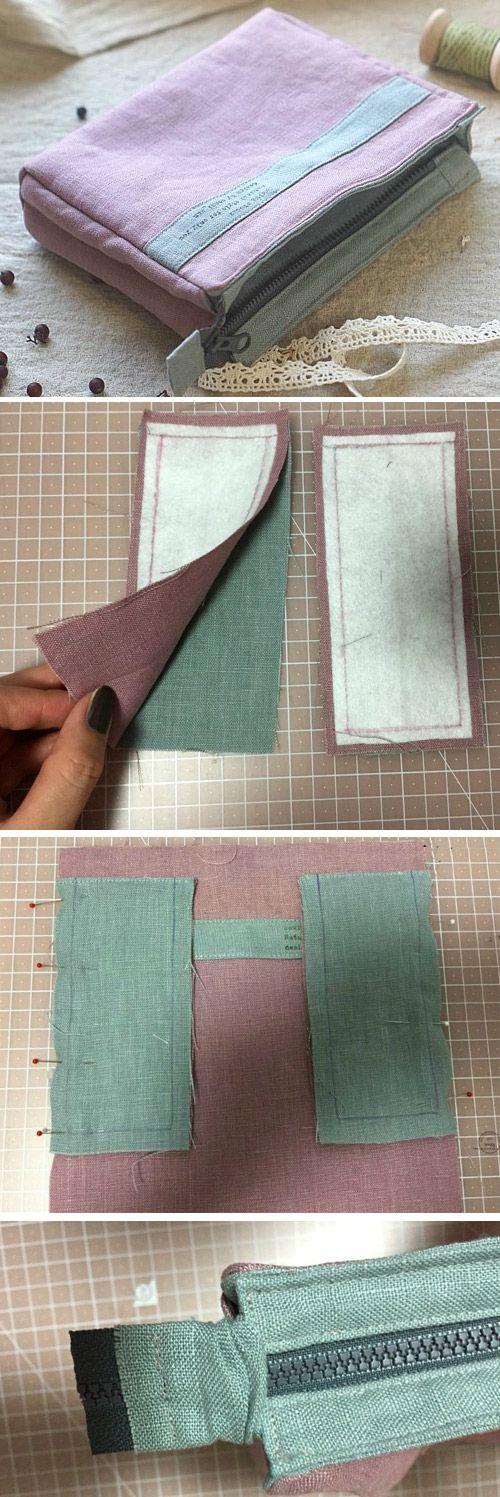 Step by Step Sewing. DIY Make Up Bag http://www.handmadiya.com/2015/11/make-up-bag-tutorial.html
