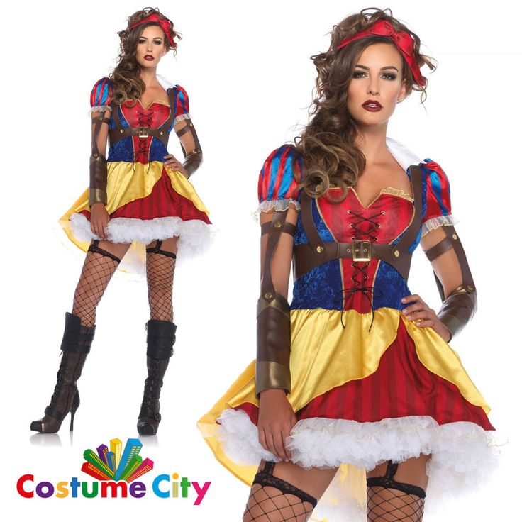 Adult Womens Rebel Snow White Halloween Fancy Dress Fairy Tale Costume #LegAvenue #CompleteOutfit