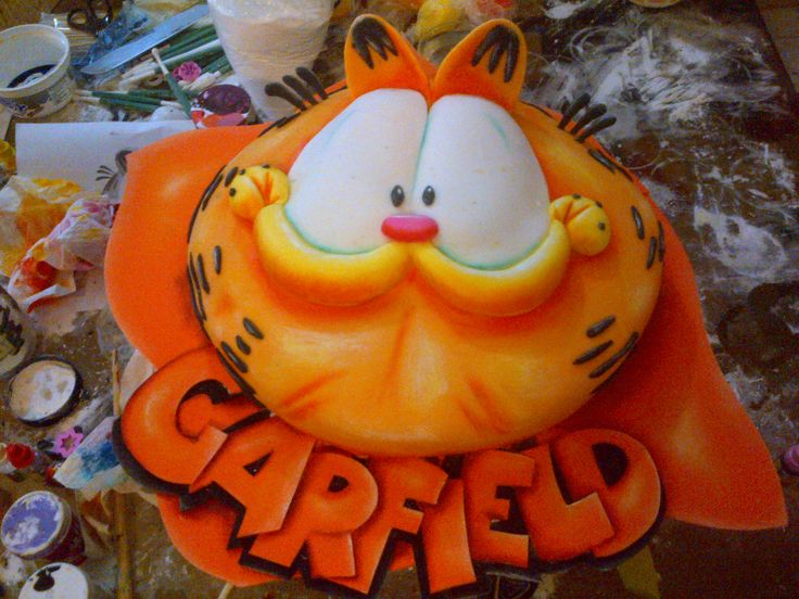 ... about Cake garfield on Pinterest | Garfield cake, Cakes and Fimo