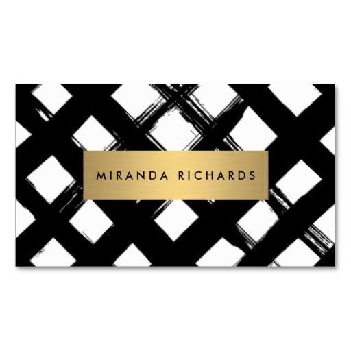 luxe bold brushstrokes business card - Interior Designer Name
