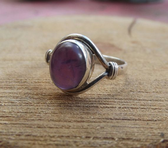 925 sterling silver ring amethyst silver ring by silveringjewelry