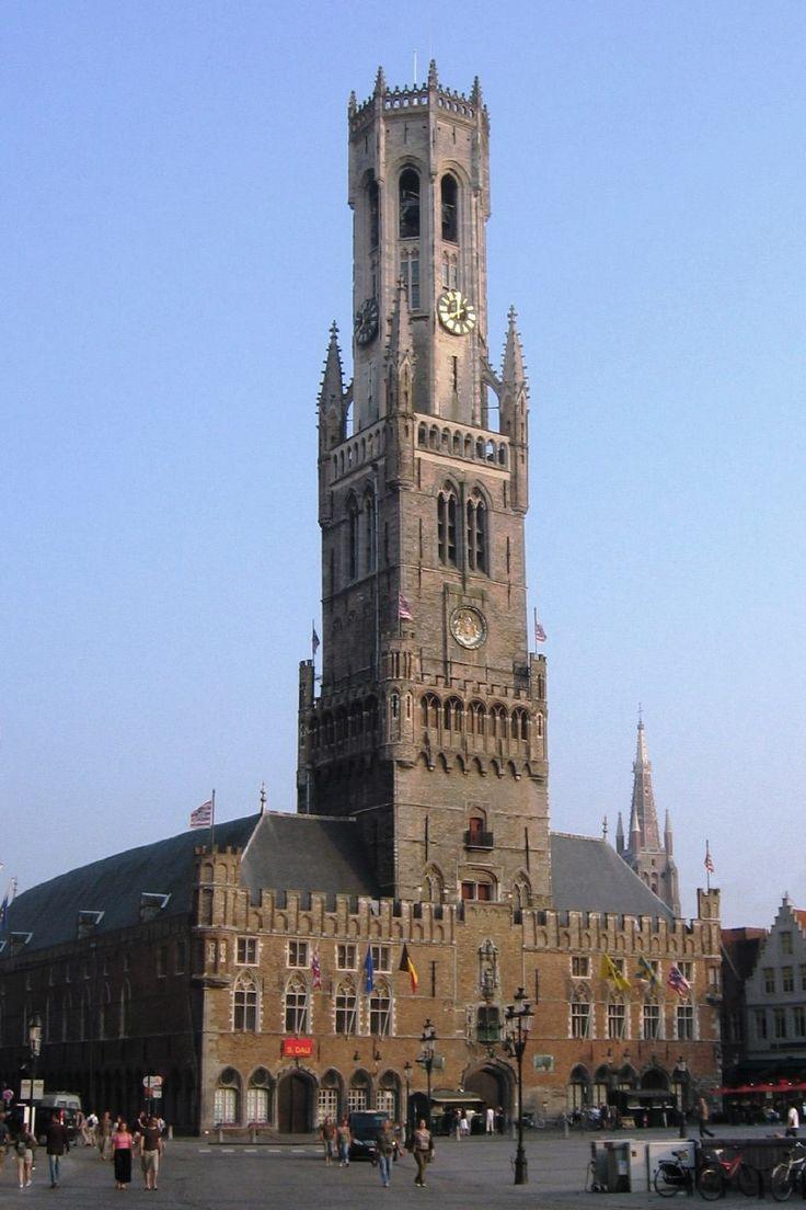 Belfry Tower, Bruges, Flanders Region, Belgium