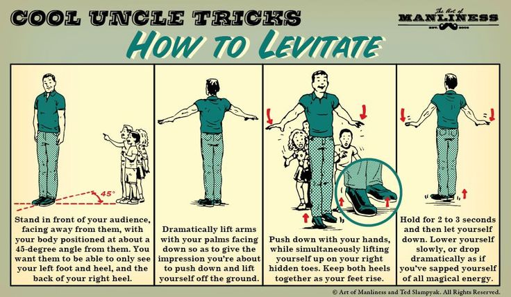 Cool Uncle Tricks: How to Levitate  #magic #magictricks