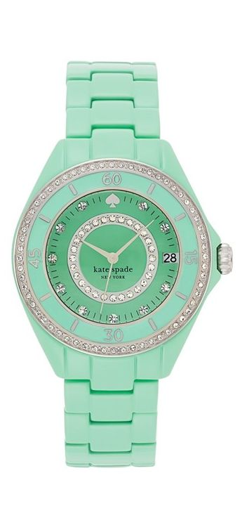 Minty bracelet watch by kate spade