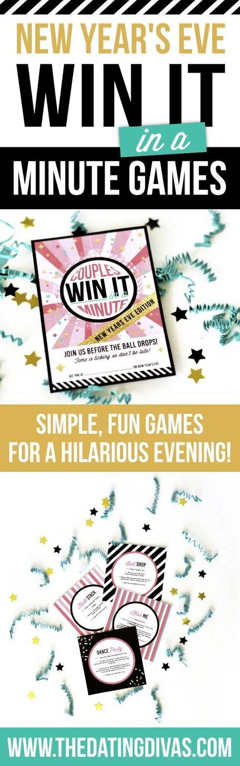 Fun and fast games that are perfect for a New Year's Eve party with adults or kids!