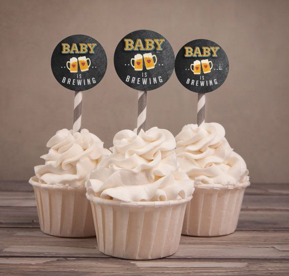 Baby is brewing Coed baby shower bridal shower by LyonsPrints
