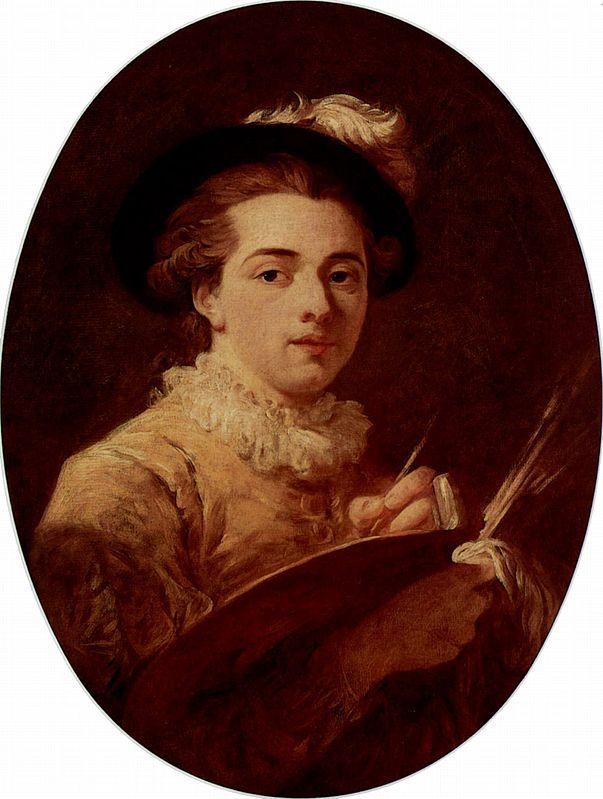 Self-portrait - Jean-Honore Fragonard produced more than 550 paintings of  which only 5 are dated.