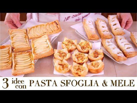 3 IDEE CON PASTA SFOGLIA E MELE Ricetta Facile e Veloce - Quick and Easy Apple Puff Pastry Recipes - YouTube