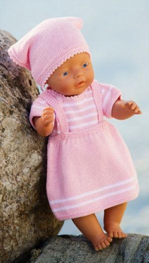 Sød strik til dukkemor   Familie Journal