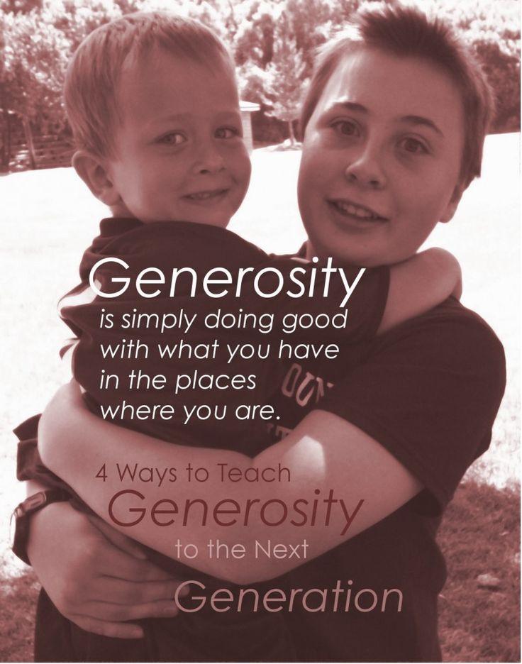 Four Ways to Teach Generosity to the Next Generation