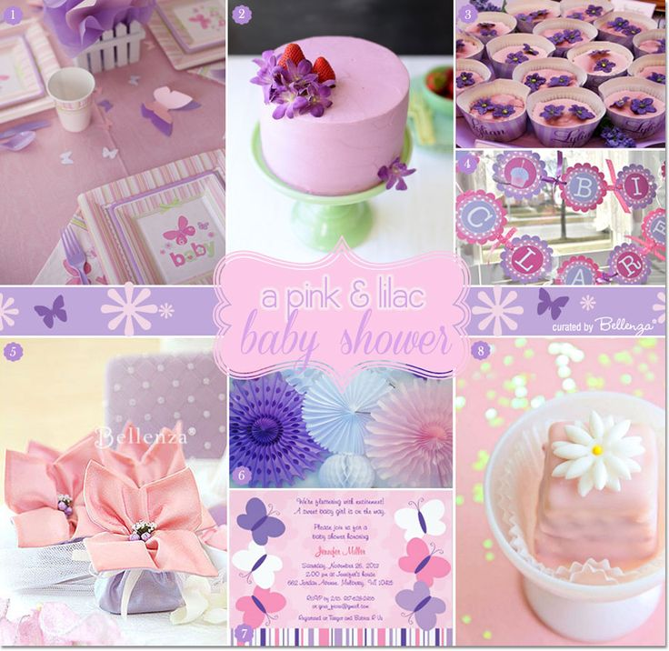 A butterfly theme party in pink and purple as featured on the Party Suite at Bellenza. #babyshowerthemes