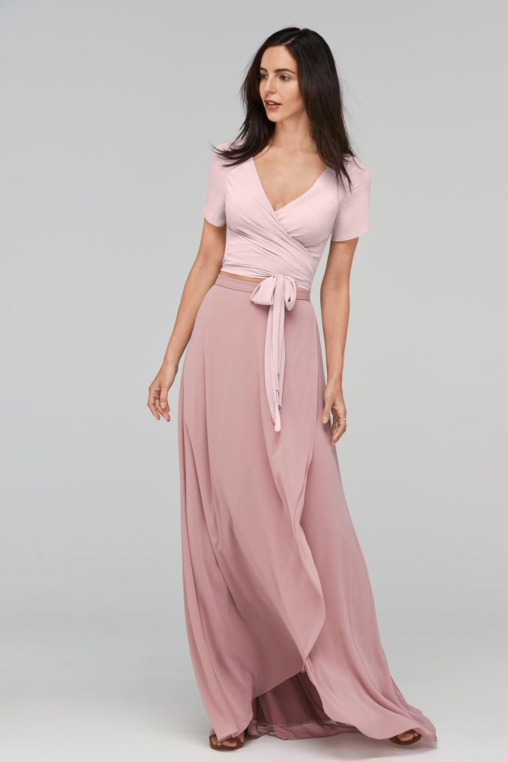 Bonito Watters Las Damas De Honor Componente - Colección de Vestidos ...