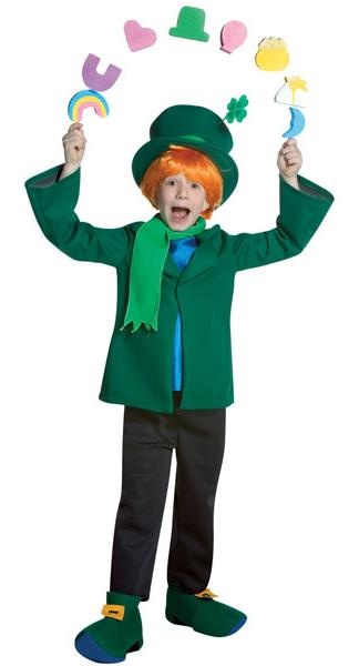 Lucky Charms Leprechaun costume.  The cereal pieces are so funny! This one would be easy to make.