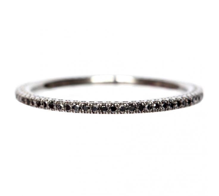 Alliance diamant blanc or noir La Luna   alliance pour femme