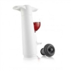 WINE SAVER VACUUM PUMP WHITE  $22.39 Keep a favorite bottle of wine tasting fresh and crisp with a wine saver vacuum tool. The vacuum ends the oxidation process and saves wines for up to two weeks longer than traditional stoppers.