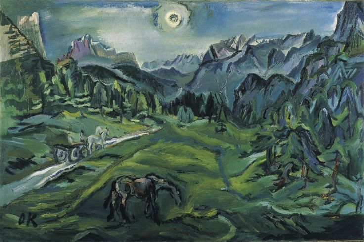 """""""Dolomite Landscape: Tre Croci"""", Oskar Kokoschka."""