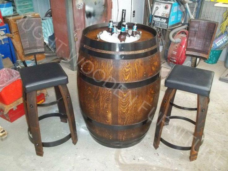 how to cut a wine barrel door