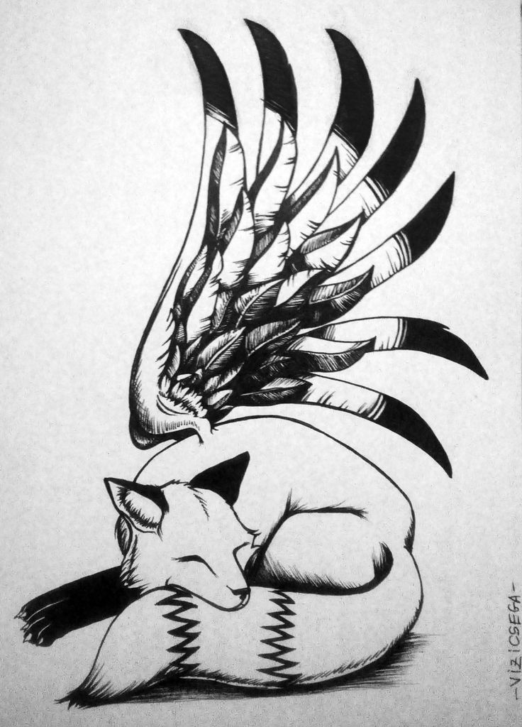 #inktober day 6 Dreaming Fox