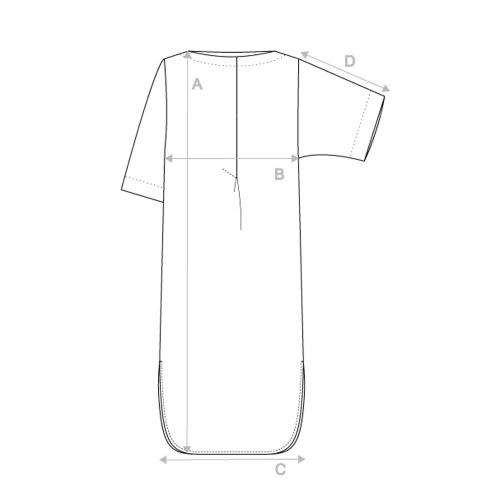 An idea for the wing sleeve simple dress - draft using your own measurements