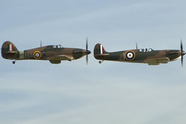 Spitfire & Hurricane Flying Display