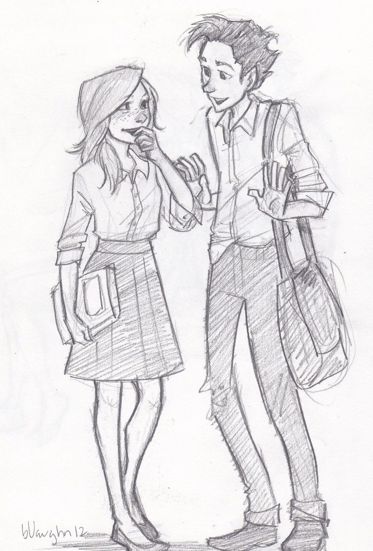 Teddy Lupin and Victorie. By Burdge bug.
