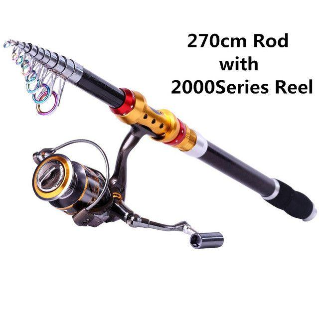 Sougayilang Telescopic Fishing Rod and Reel Combo Set