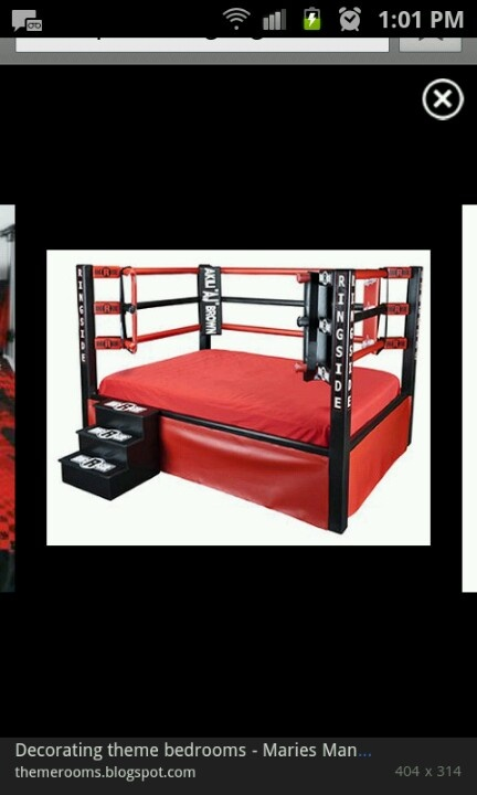 Wrestling Or Boxing Ring Bed Wwe Pinterest Beds
