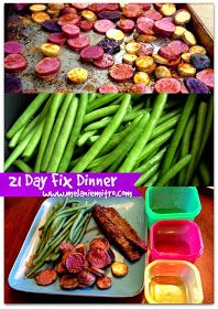 Committed to Get Fit: 21 Day Fix Flank Steak Dinner Recipe
