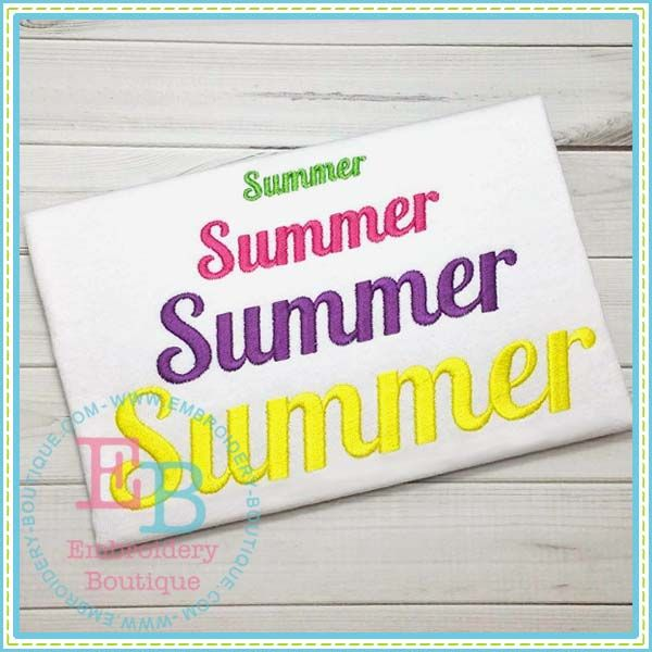 Summer Embroidery Alphabet