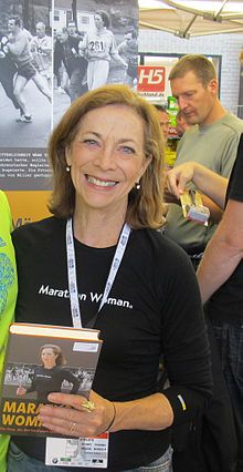 Kathrine Switzer:  First woman to run the Boston Marathon as a registered participant (even though women were not allowed yet).  See also Bobbi Gibb, who ran and finished the year before but was not registered.