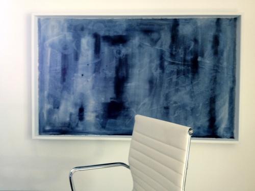 Dreamy blues on canvas/art/bulletin board.