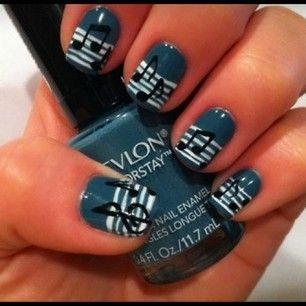 Music note #nails es muy musical me encanta!!!
