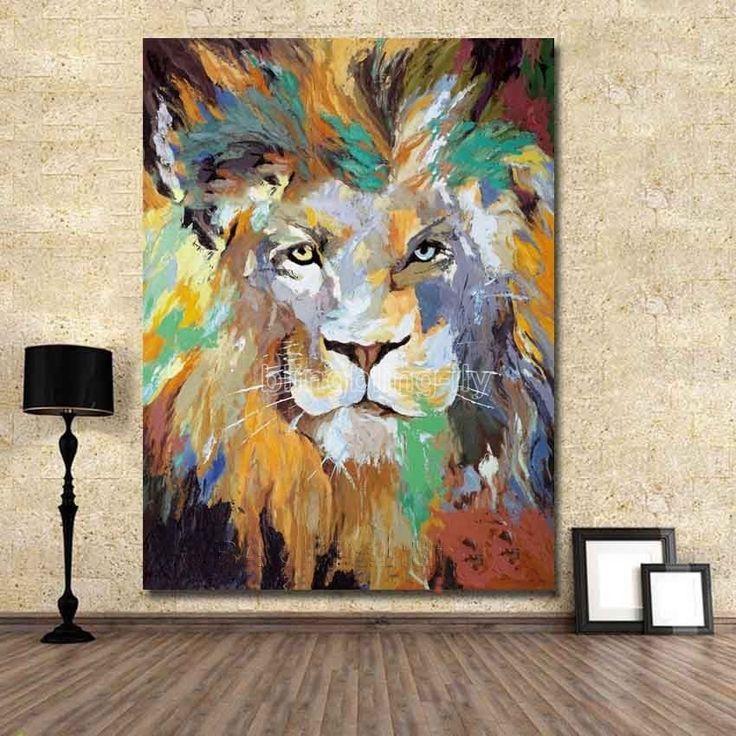 Плечо роспись абстрактное масло/акрил холсте стены поп-арт лев животное   Искусство, Предметы искусства от авторов, Картины   eBay!