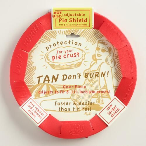 One of my favorite discoveries at WorldMarket.com: Talisman Adjustable Silicone Pie Crust Shield