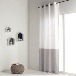 Штора двухцветная с люверсами 100% хлопок, AGURI La Redoute Interieurs - Шторы