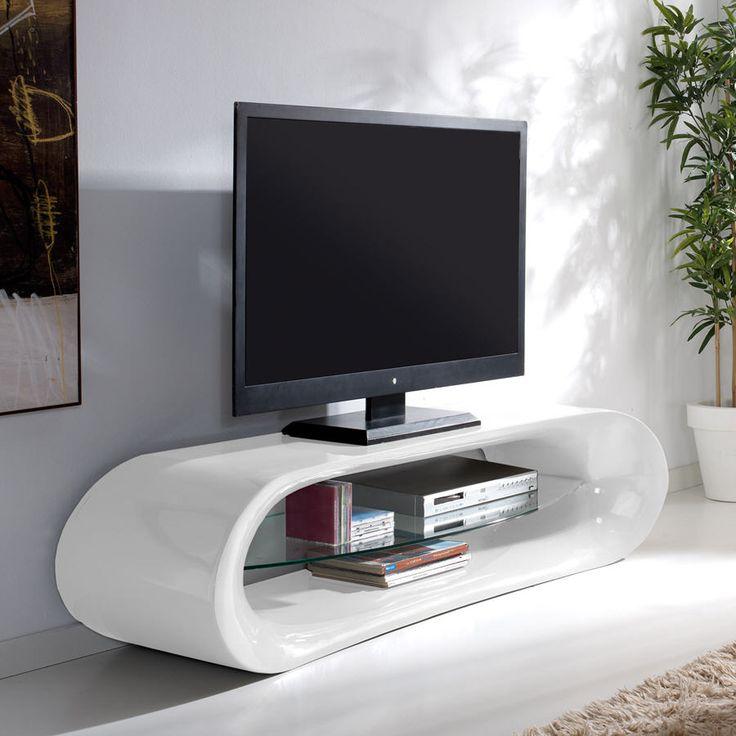 Meuble TV en verre CLAUDIA Longueur 160cm prix promo Meuble Tv Delamaison 489.00 € TTC au lieu de 573 €