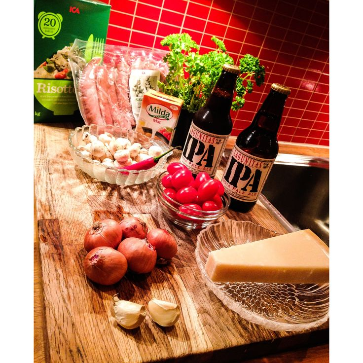 Risotto lagad med Lagunitas IPA #öl #lagunitasipa #recept #tactiqteam